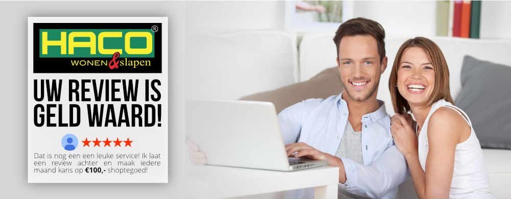 Schrijf een Google review en maak iedere maand kans op € 100,- shoptegoed!